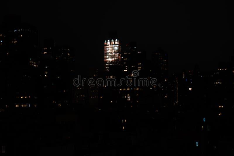 Ноча в верхнем Ист-Сайд стоковое фото rf