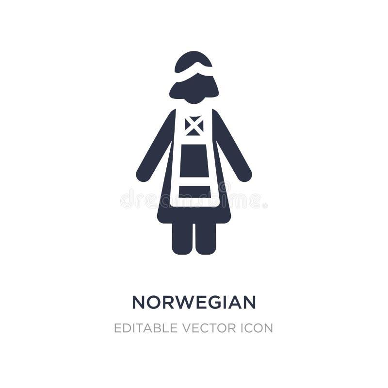 норвежский значок на белой предпосылке Простая иллюстрация элемента от концепции людей бесплатная иллюстрация