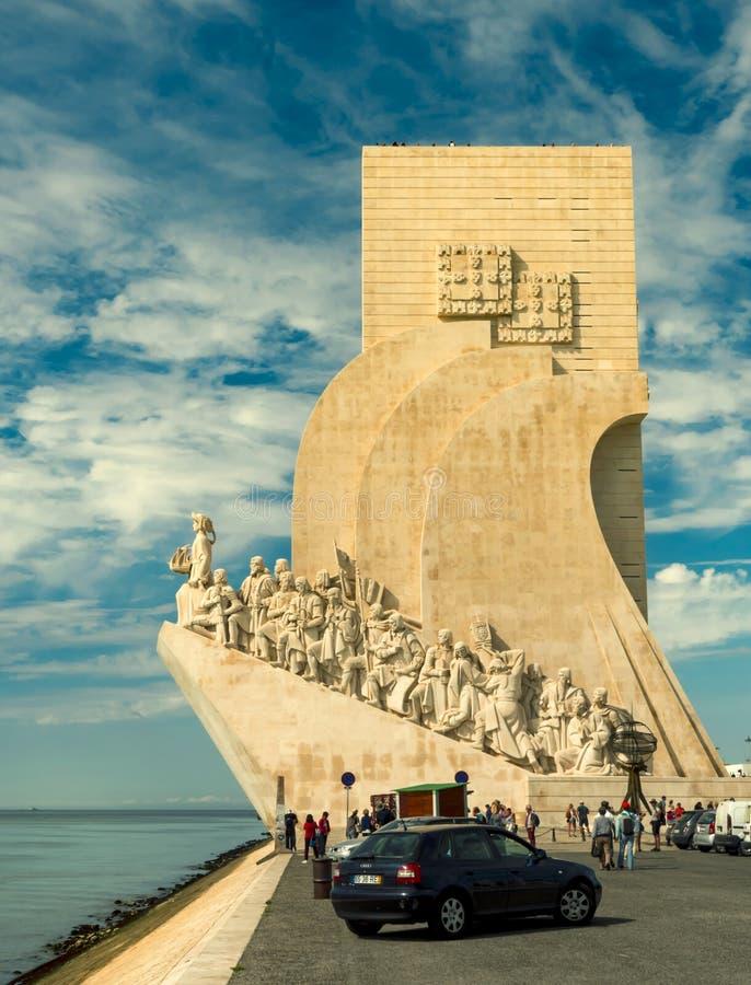 Памятник Моряк-открывателям в Лиссабоне Район Belem стоковые изображения