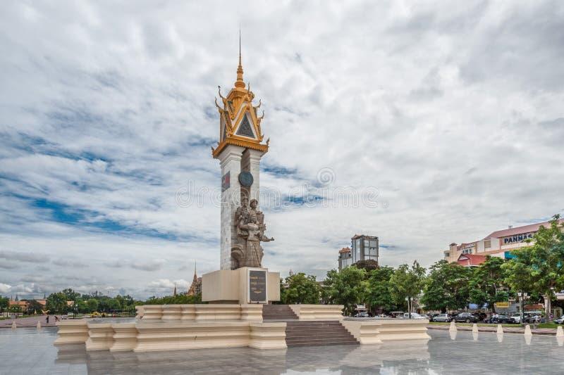 Памятник приятельства Камбоджа-Вьетнам стоковое изображение rf