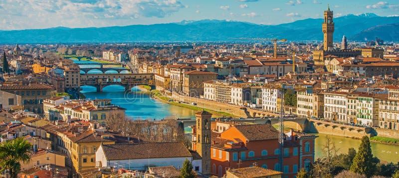 Панорама городского пейзажа Флоренса стоковое фото rf