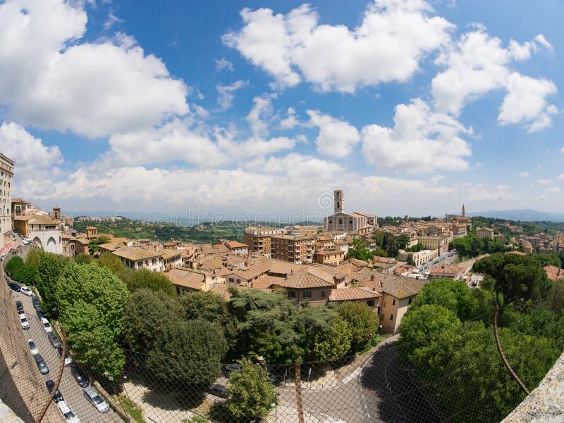 панорамный взгляд perugia umbria стоковая фотография rf