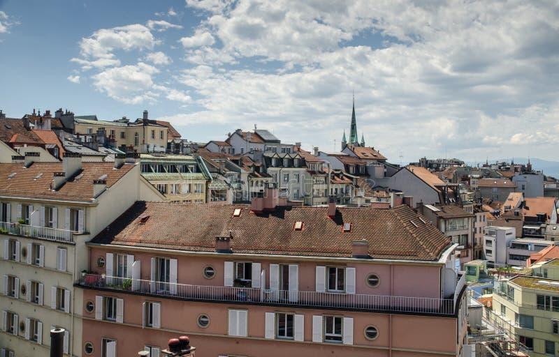 Панорамный вид города Лозанны стоковая фотография