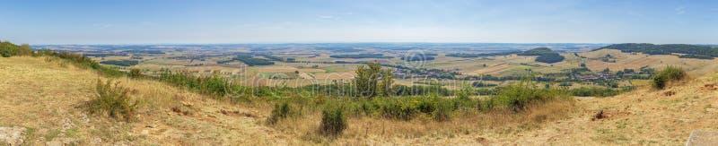 Панорамный вид от саммита холма Sion-Vaudemont стоковые фотографии rf