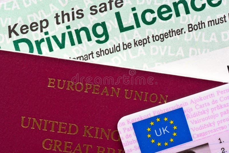 Паспорт и лицензия стоковые фотографии rf