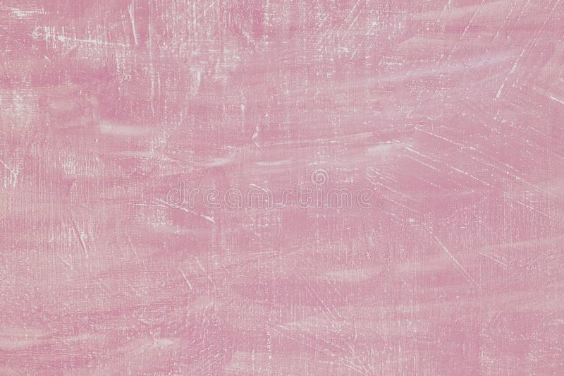 Пастельная розовая предпосылка цемента текстурированная штукатуркой Текстура гипсолита бетонной стены Идеальный цвет бледный - ро стоковые изображения