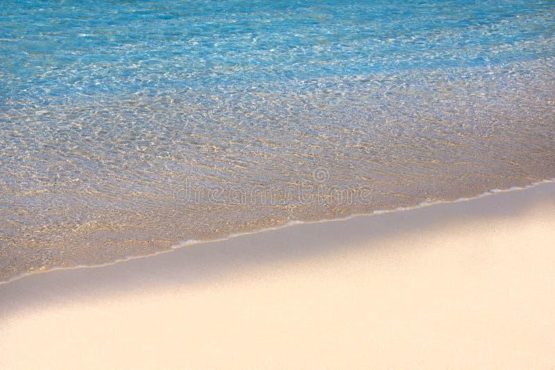 Пастельный тропический пляж с космосом экземпляра стоковое фото