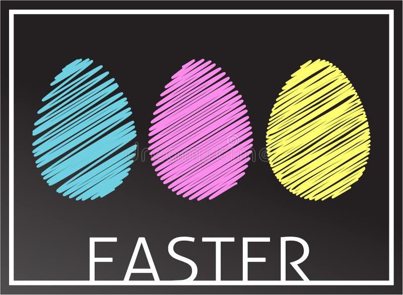 Пасхальные яйца в цветах RGB бесплатная иллюстрация