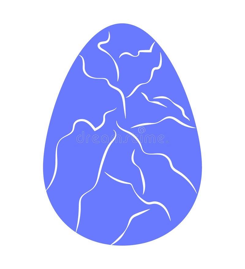 Пасхальное яйцо украшенное со славными отказами плоско вектор бесплатная иллюстрация