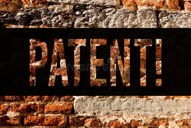 Патент текста сочинительства слова Концепция дела для лицензии которая дает права для использования продажи делающ искусство кирп стоковое изображение