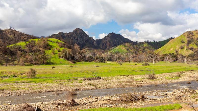 Парк штата каньона Malibu стоковая фотография rf