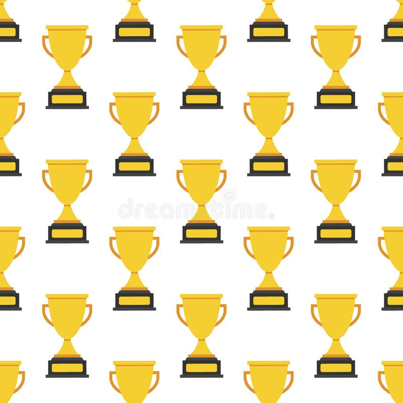 Simple seamless trophy icon vector pattern. Main icon elements only, no ornament. Vector illustration. vector illustration