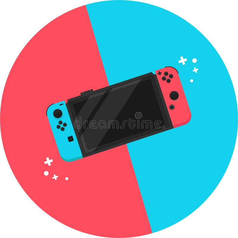 Vector image of nintendo in flat design stock illustration