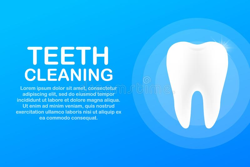 Teeth cleaning. Teeth with shield icon design. Dental care concept. Healthy Teeth. Human Teeth. Vector illustration. vector illustration