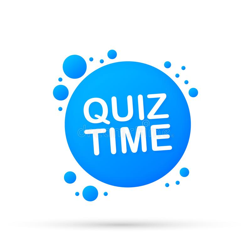 Quiz time banner. The concept is the question with the answer. Vector illustration. stock illustration