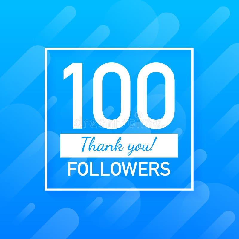 100 followers, Thank You, social sites post. Thank you followers congratulation card. Vector illustration. 100 followers, Thank You, social sites post. Thank stock illustration