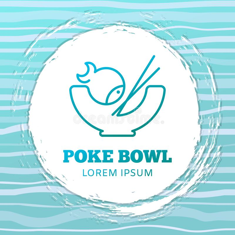 Poke bowl vector logo concept vector illustration