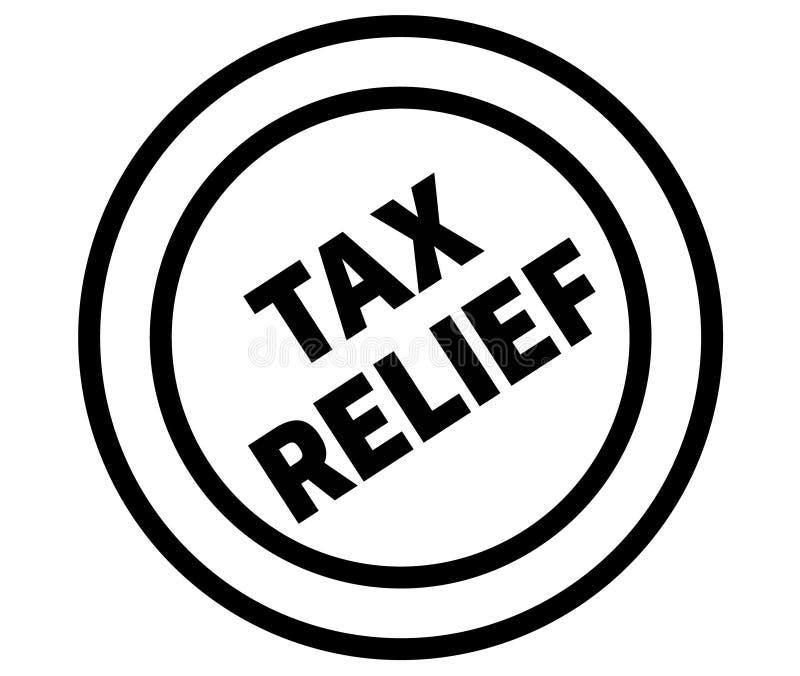 Печать освобождения от уплаты налога на белизне иллюстрация штока