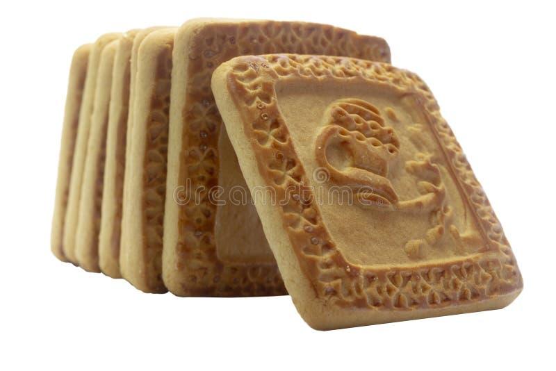 Печенья на белой предпосылке стоковые изображения