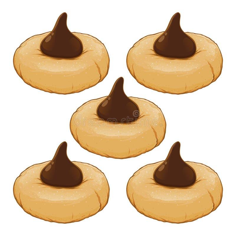 Печенья со сливк шоколада на верхней части бесплатная иллюстрация
