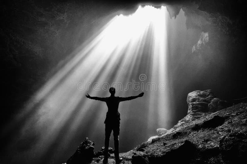 Пещера Jombolang стоковое изображение
