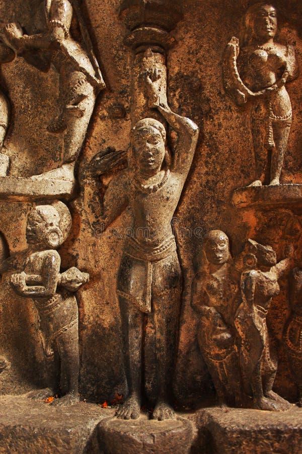 Пещеры виска Bhuleshwar, индусский висок лорда Shiva, шоссе Пуна - Solapur, около Yawat, Пуна, махарастра стоковые фотографии rf