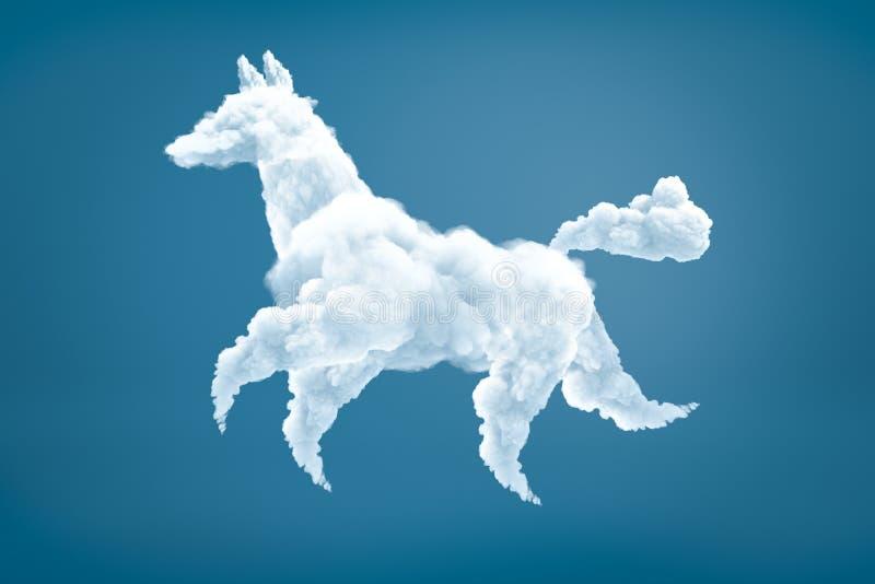 перевод 3d в форме собак белого облака на свет-голубой предпосылке стоковые фотографии rf