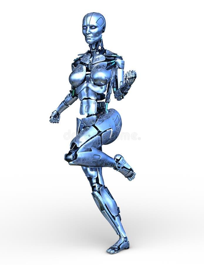 перевод 3D CG робота иллюстрация вектора