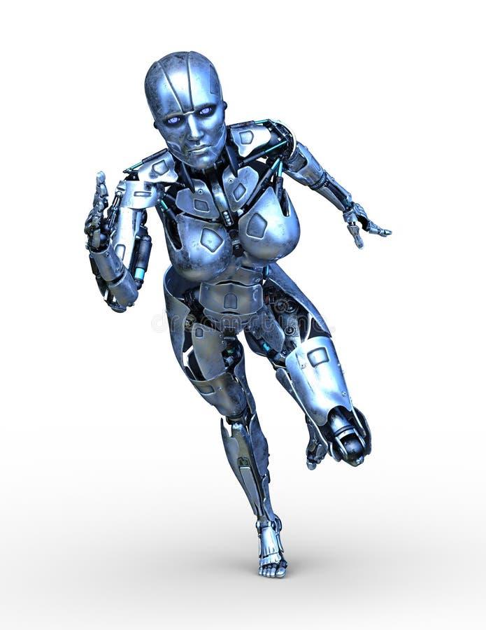 перевод 3D CG робота бесплатная иллюстрация