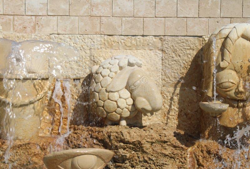 Переулки зодиака, знаки фонтана астрологические, город Яффы старый, Тель-Авив стоковое изображение