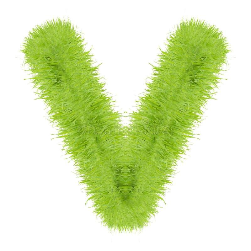 Письмо травы на белой предпосылке стоковое изображение rf