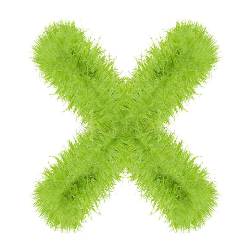 Письмо травы на белой предпосылке стоковое фото
