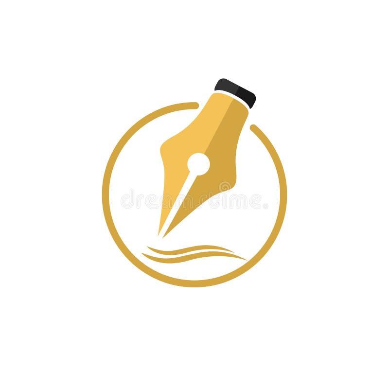 Пишите логотип, значок, символ иллюстрация штока