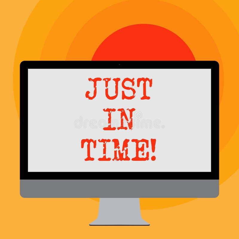 Пишущ примечание показывая как раз вовремя Приезжать фото дела showcasing точно на пунктуальность часа необходимую иллюстрация вектора