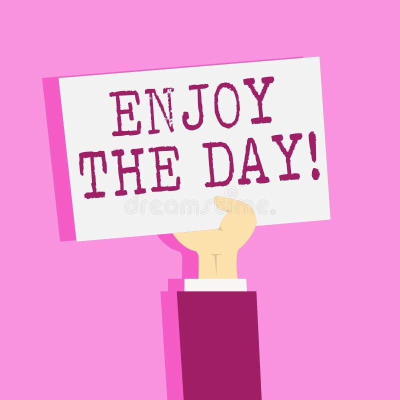 Пишущ показ примечания насладитесь днем Время счастливого образа жизни наслаждения фото дела showcasing расслабляющее бесплатная иллюстрация
