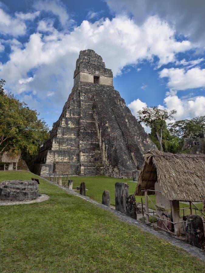 Пирамиды в городе нации самом значительном майяском парка Tikal, Гватемалы стоковое фото