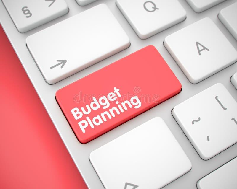 Планирование бюджета - сообщение на красной кнопке клавиатуры 3d иллюстрация штока