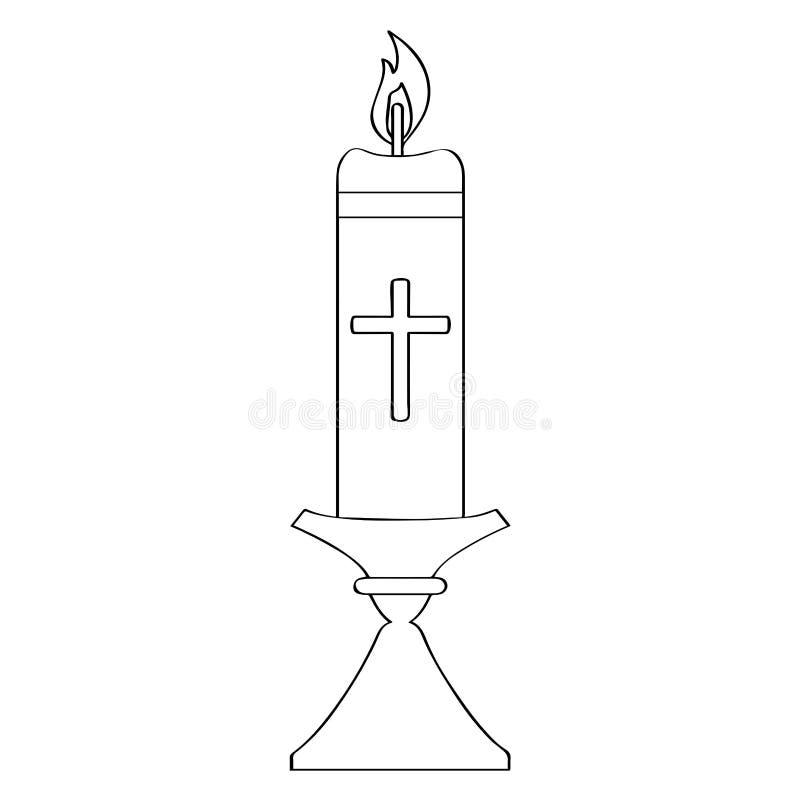 План Paschal свечи иллюстрация штока