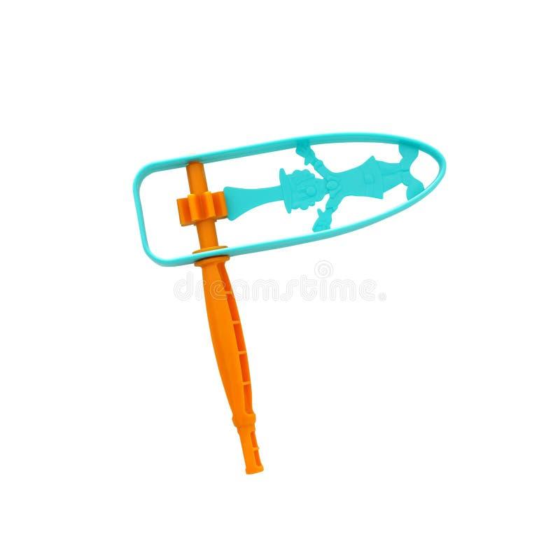 пластиковые красочные noisemaker или gragger для праздника торжества purim & x28; еврейское holiday& x29; изолированный на белизн стоковые фото