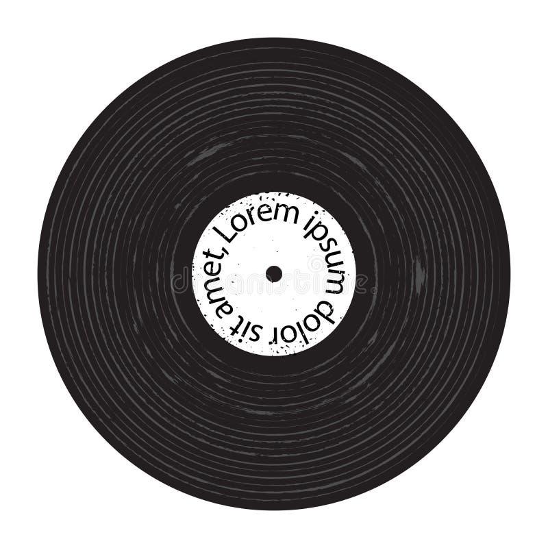 Плита Grunge винила иллюстрация штока