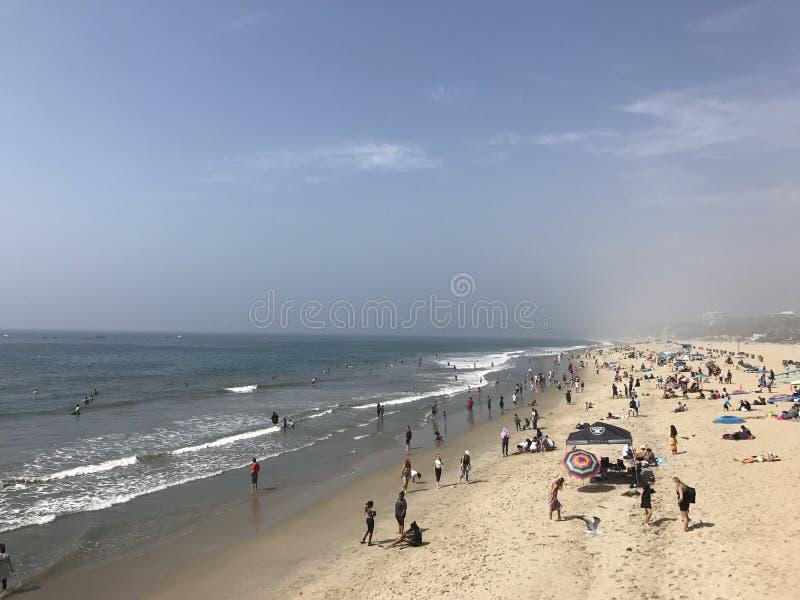 Пляж Лос-Анджелес Санта-Барбара стоковое изображение