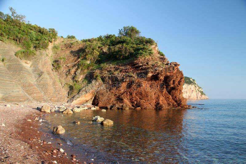 Пляж нудиста стоковое изображение