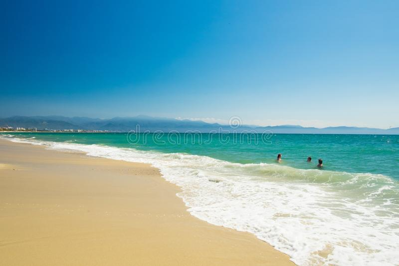 Пляж Bucerias и seascape, Халиско, Мексика стоковые изображения