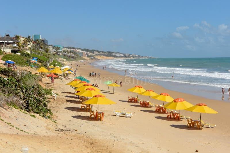 Пляж Ponta Negra на натальном на Бразилии стоковые изображения