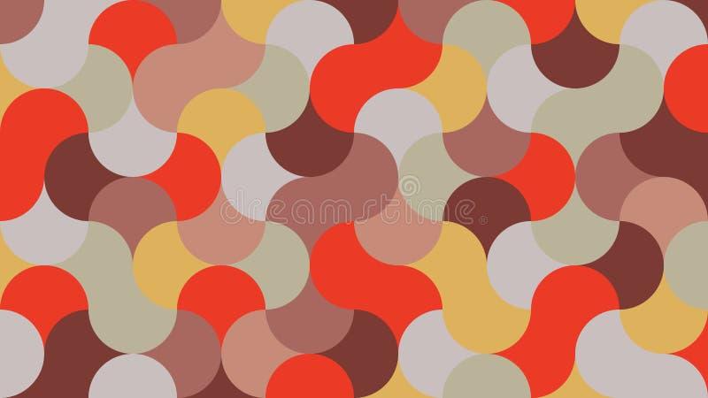 Плоская, ультрамодная, стильная, геометрическая предпосылка в тонах томата вишни иллюстрация штока