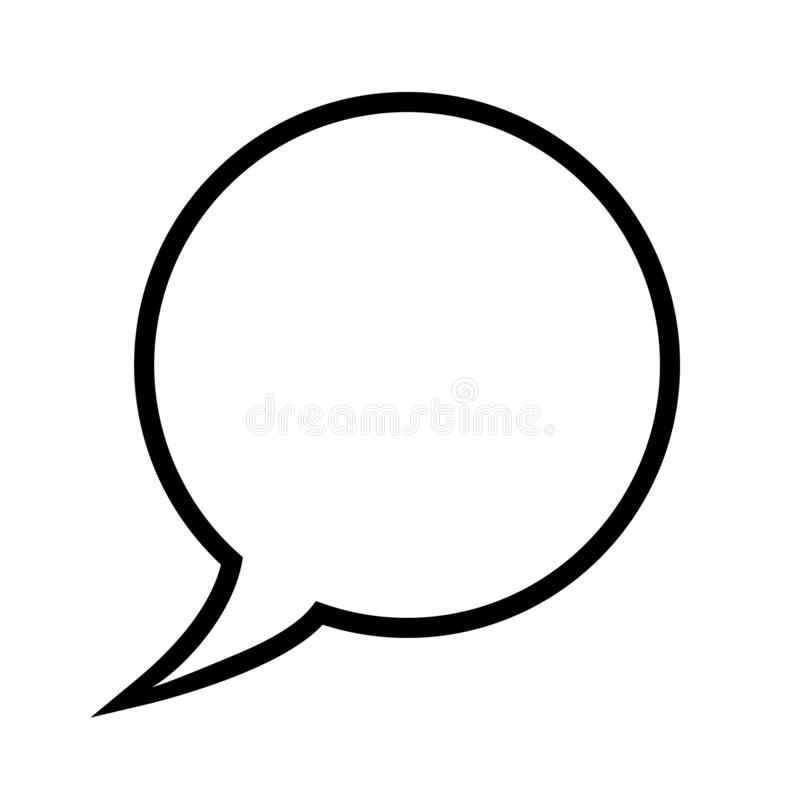 Пузырь речи, воздушный шар речи, линия значок пузыря болтовни вектора искусства для apps и вебсайты бесплатная иллюстрация