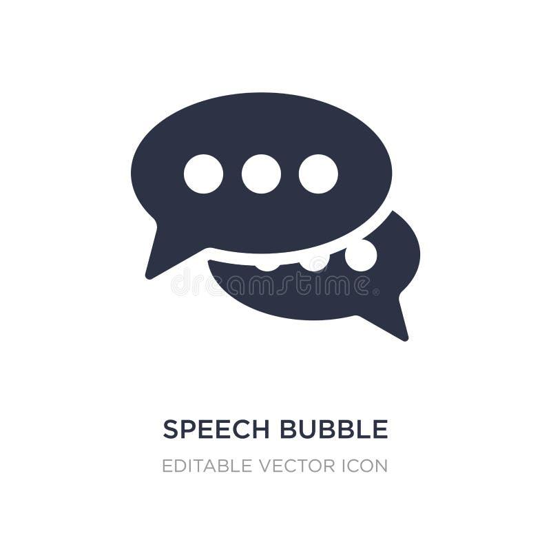 пузырь речи со значком многоточия на белой предпосылке Простая иллюстрация элемента от концепции форм иллюстрация штока