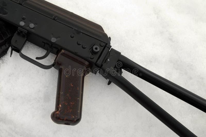 Пулемет на снеге стоковое изображение rf