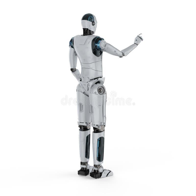 Пункт пальца робота иллюстрация штока