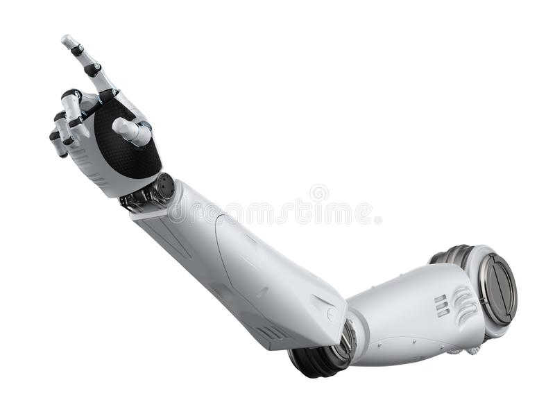 Пункт руки робота иллюстрация штока